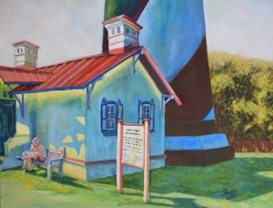 St Augustine Lighthouse Base, Size 30″w x 28″ h, $650.00, plus pack/ship/handle