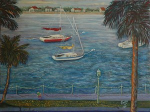 View from the Hilton, St. Augustine, Size 30″w x 28″ h, $600.00, plus pack/ship/handle