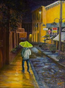 Lonely Walk, 40x30, Acrylic, $1200