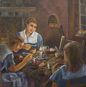 Servant's Supper, 36x36, Acrlic, $1800